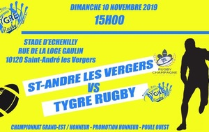 Senior : St André les Vergers - Tygre Rugby